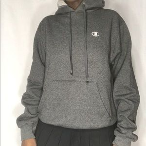 Champion ECO heather grey hoodie  Men's size small